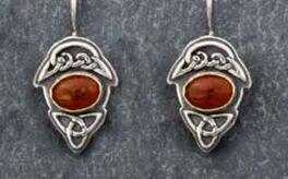 Thea Earrings with Carnelian