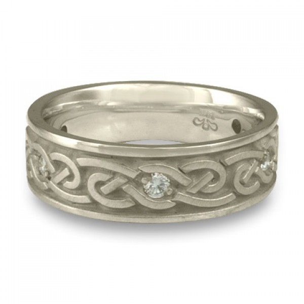 Medium Infinity With Diamonds Wedding Ring in Platinum