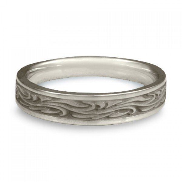 Extra Narrow Starry Night Wedding Ring in Platinum