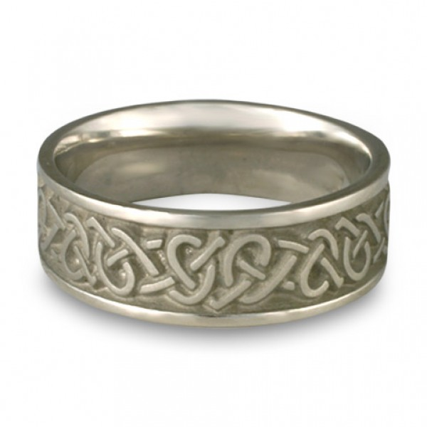 wide celtic hearts wedding ringin platinum by celtic jewelry