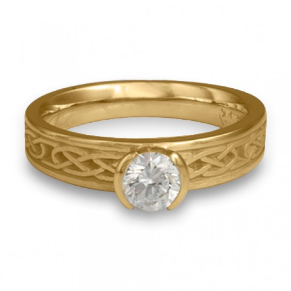 Love Knot Engagement Ring in 14K Yellow Gold