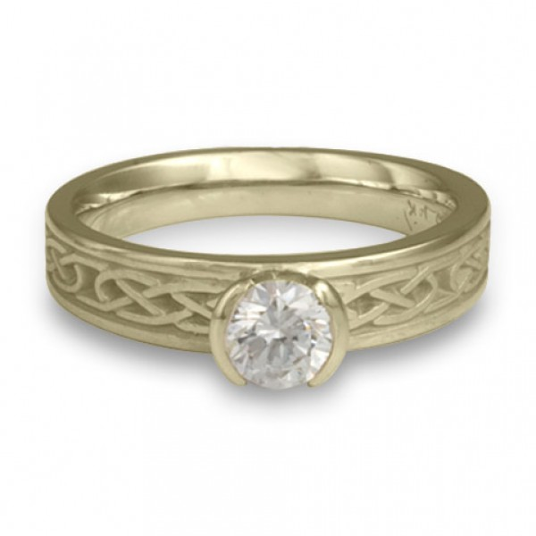 Love Knot Engagement Ring in 18K White Gold