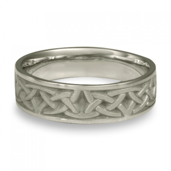 Narrow Celtic Arches Wedding Ring in Platinum