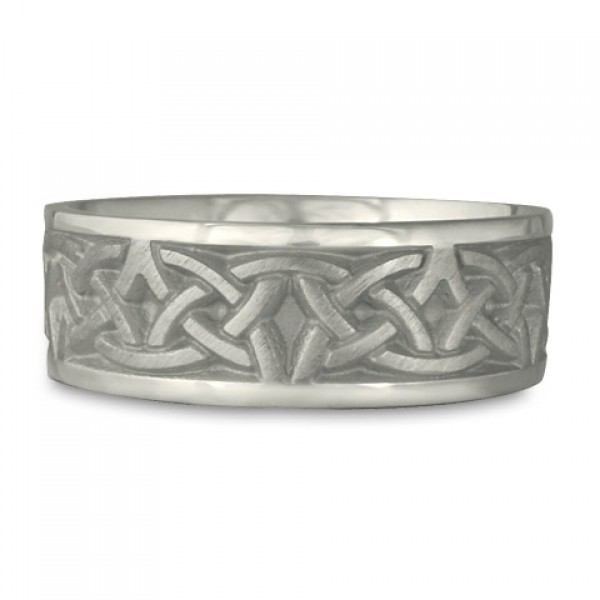 Wide Celtic Arches Wedding Ring in Platinum