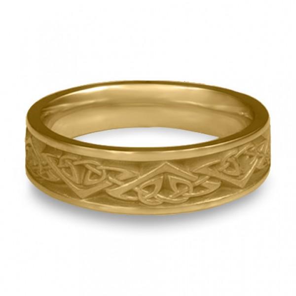Narrow Monarch Wedding Ring in 14K Yellow Gold