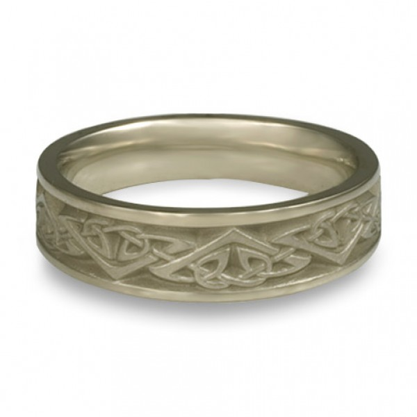 Narrow Monarch Wedding Ring in 18K White Gold