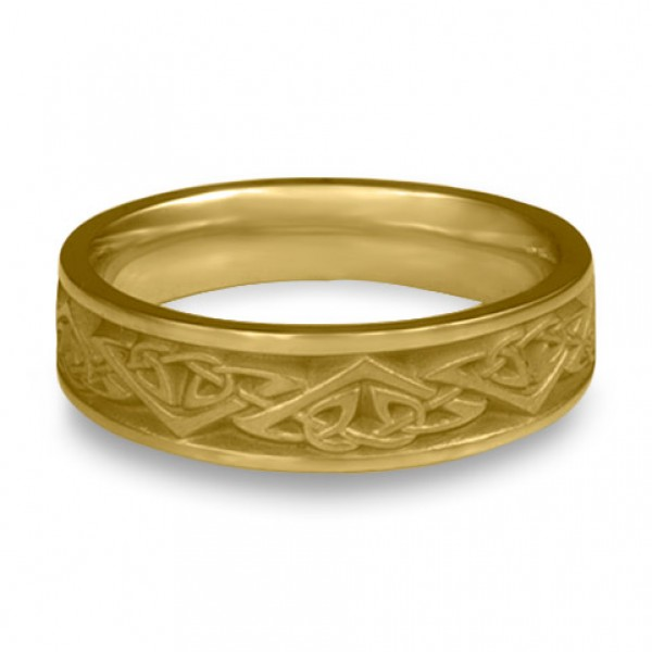 Narrow Monarch Wedding Ring in 18K Yellow Gold