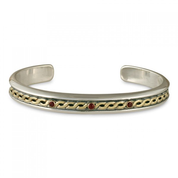 Rope Cuff Bracelet With Stone
