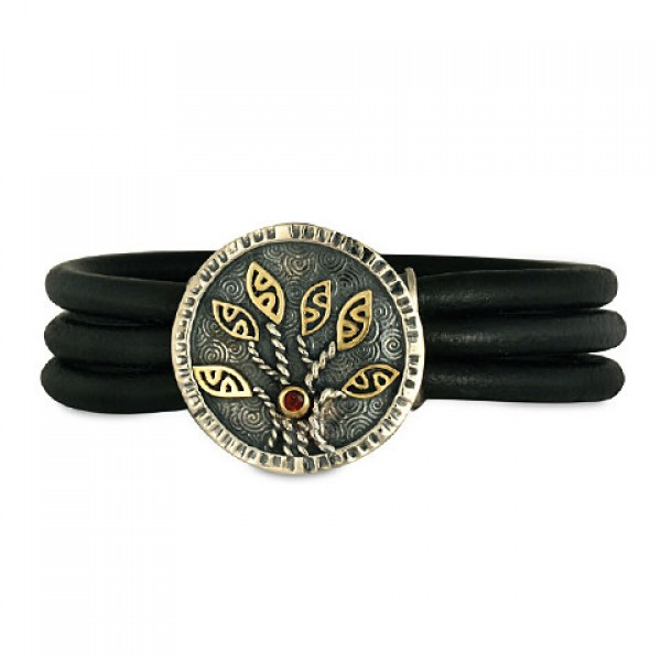 Moon Tree Leather Bracelet