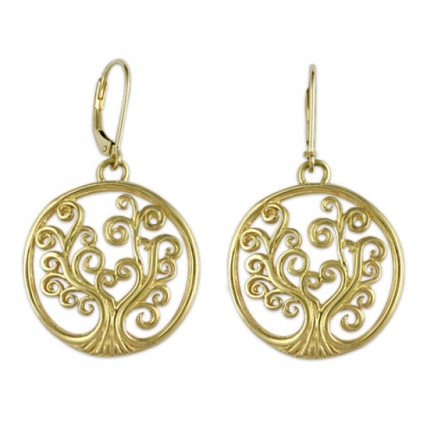 Tree of Life Earrings in 18K Yellow Gold