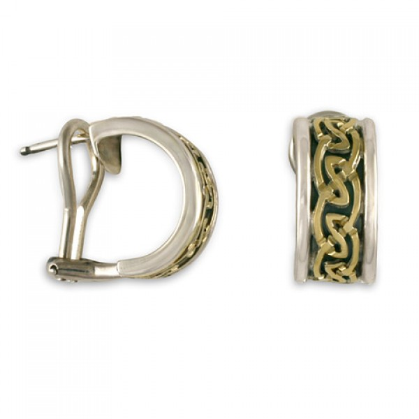 Petra Cuff Earrings (SGS) With Omega Back
