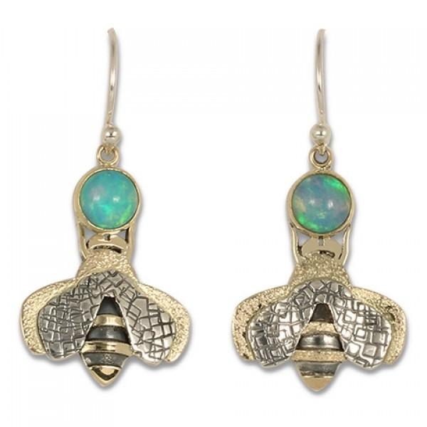 Simply Bee Earrings with Ethiopian Opal