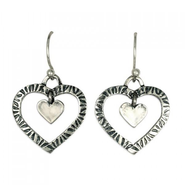 Taliesan Heart with Heart Earrings