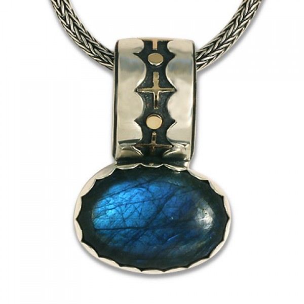 One-of-a-Kind Labradorite XO Pendant