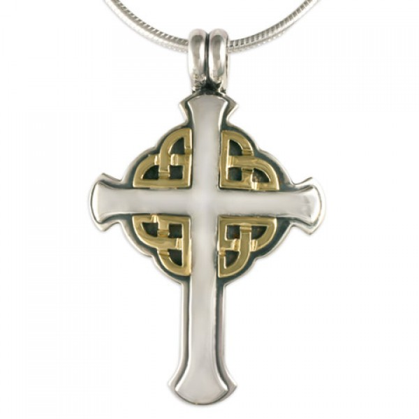 Interlace Cross Pendant