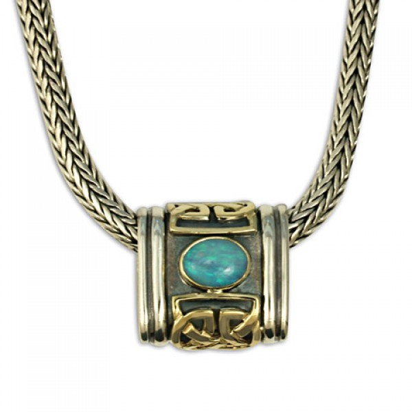 Scroll with Stone Slider with Opal