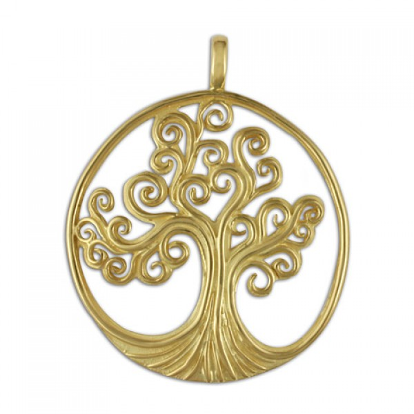 Tree of Life Gold Pendant 14KY