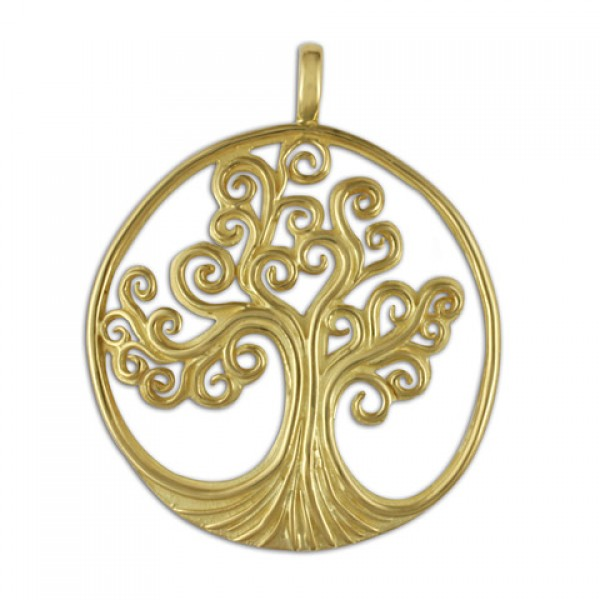 Tree of Life Gold Pendant 18KY