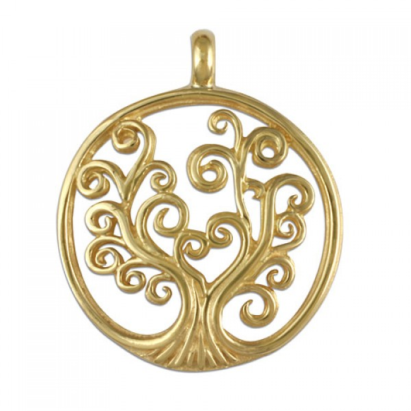 Tree of Life Small Gold Pendant 14KY