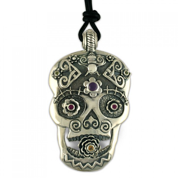 Catriona Silver Skull Pendant