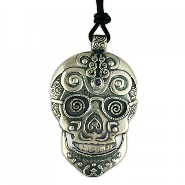 Timothy Silver Skull Pendant