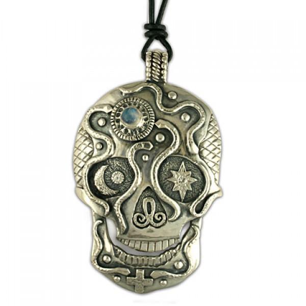 Oberon Silver Skull Pendant