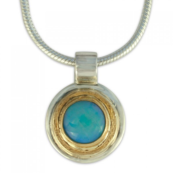 Dione Pendant with Opal