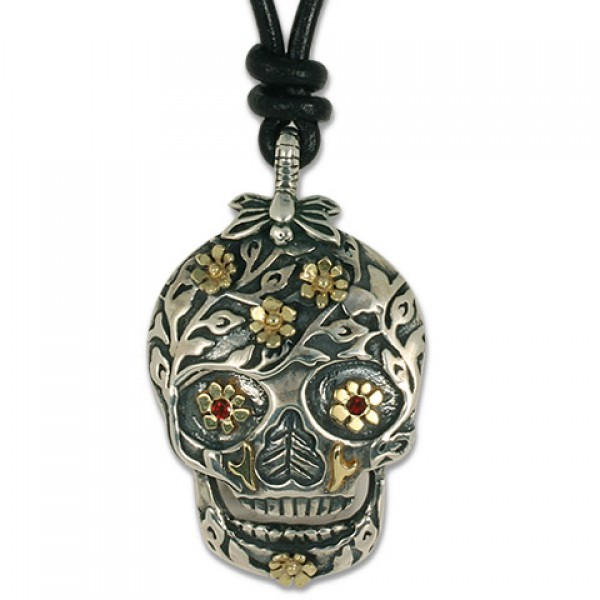 Flora Skull Pendant