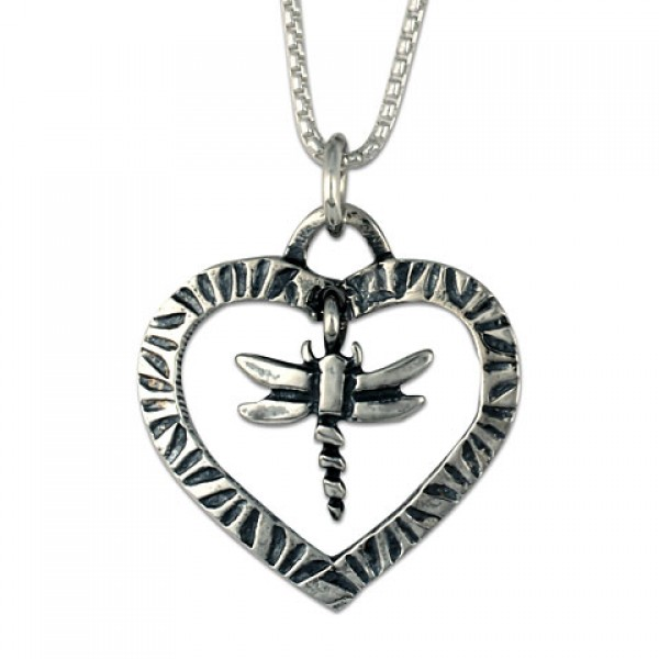Taliesan Heart with Dragonfly Pendant