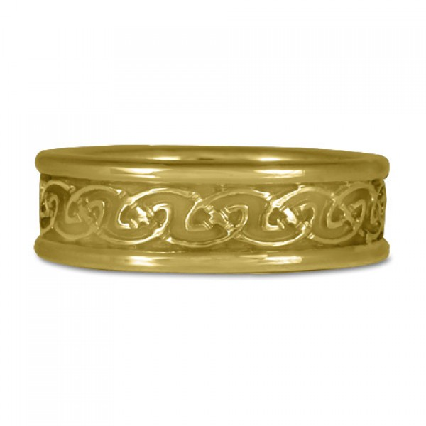 Bordered Petra Ring in 18K Yellow or White Gold
