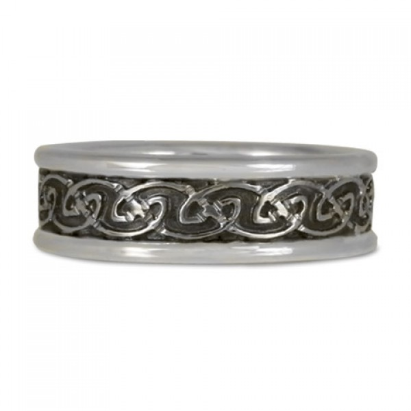 Bordered Petra Ring in Sterling Silver