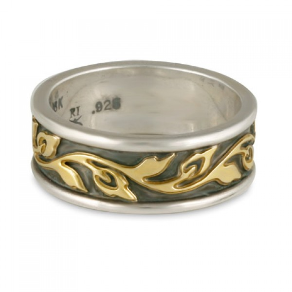 Flores Narrow Bordered Ring