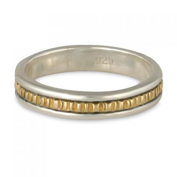 Bridges Ring Narrow- 14K Gold over Sterling