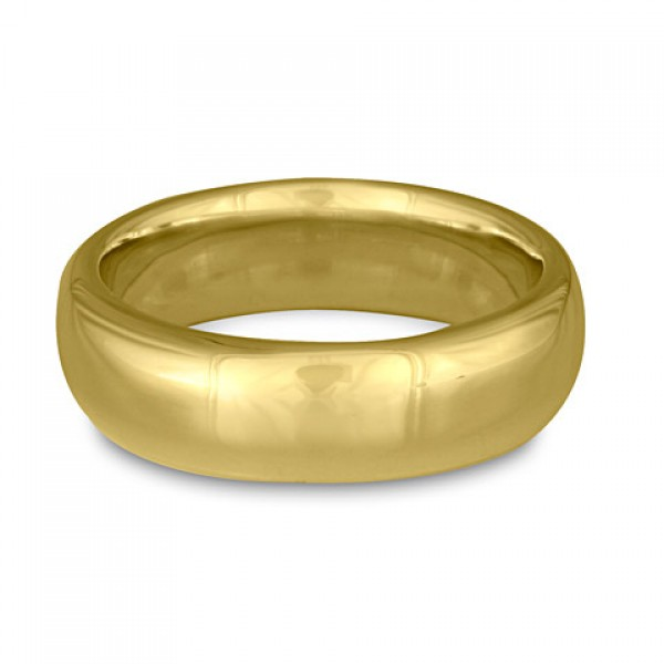 Classic Comfort Fit Wedding Ring, 18K Yellow Gold 7mm Wide by 2mm Thick