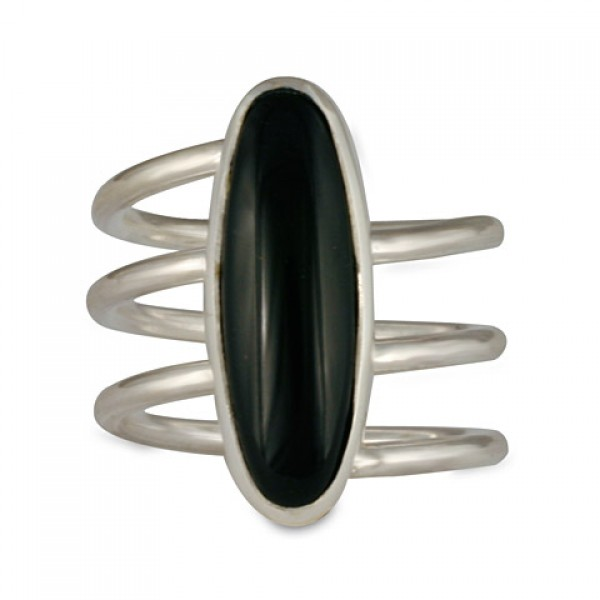 Stilleto Ring with Black Onyx