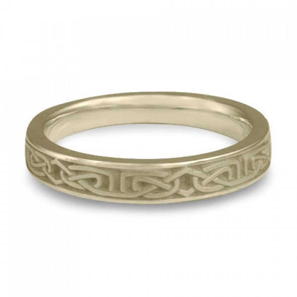 Extra Narrow Labyrinth Wedding Ring in 18K White Gold