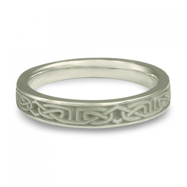 Extra Narrow Labyrinth Wedding Ring in Platinum