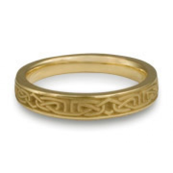 Extra Narrow Labyrinth Wedding Ring in 18K Yellow Gold