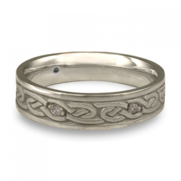 Narrow Infinity With Diamonds Wedding Ring in Platinum