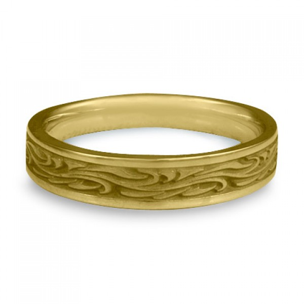 Extra Narrow Starry Night Wedding Ring in 18K Yellow Gold