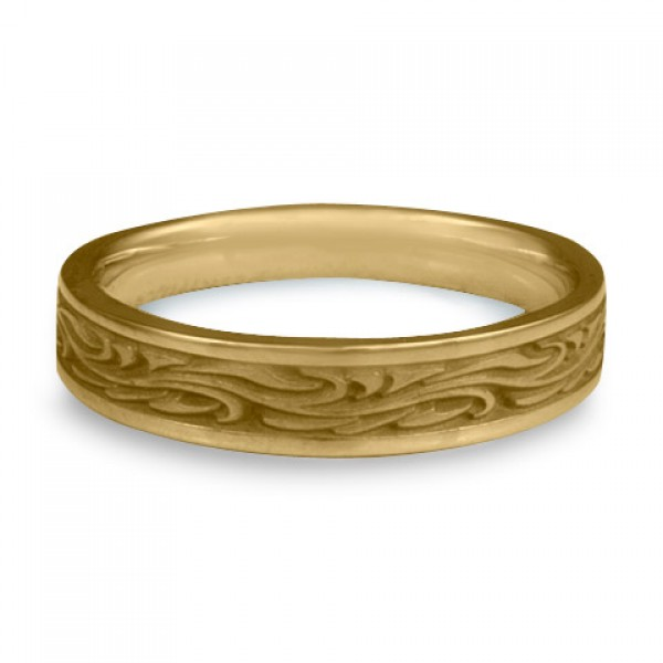 Extra Narrow Starry Night Wedding Ring in 14K Yellow Gold