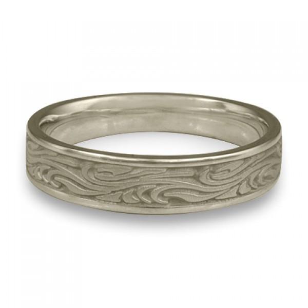 Narrow Starry Night Wedding Ring in 14K White Gold