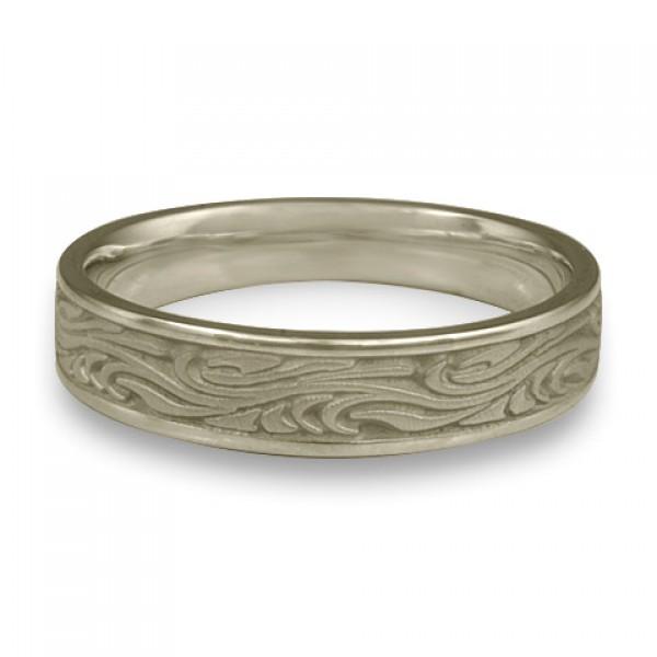 Narrow Starry Night Wedding Ring in 18K White Gold