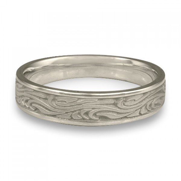 Narrow Starry Night Wedding Ring in Platinum