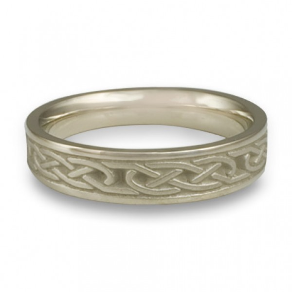 Extra Narrow Love Knot Wedding Ring in 14K White Gold