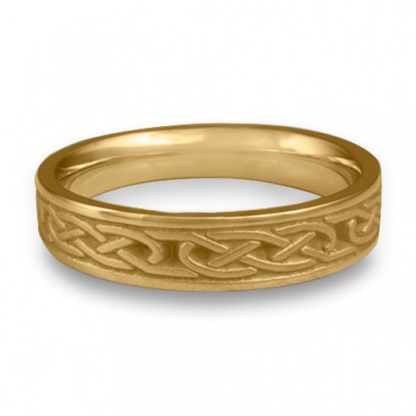 Extra Narrow Love Knot Wedding Ring in 14K Yellow Gold