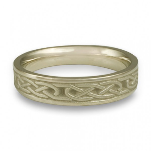 Extra Narrow Love Knot Wedding Ring in 18K White Gold