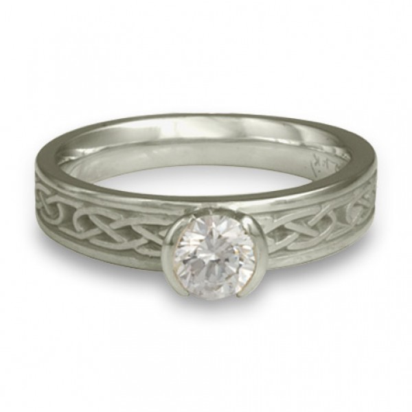 Love Knot Engagement Ring in Platinum