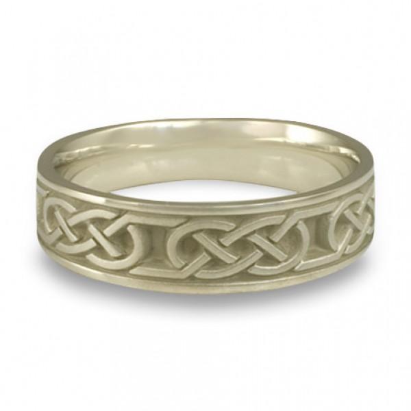 Narrow Love Knot Wedding Ring in 18K White Gold