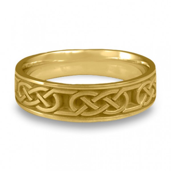 Narrow Love Knot Wedding Ring in 18K Yellow Gold
